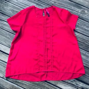 PURE ENERGY Plus Size 2 Hot Pink Shirt